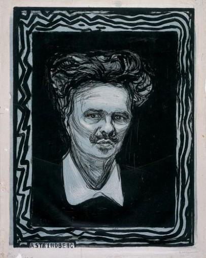 "Edvard Munch, ""Strindberg"", litografi, Munch-museet"